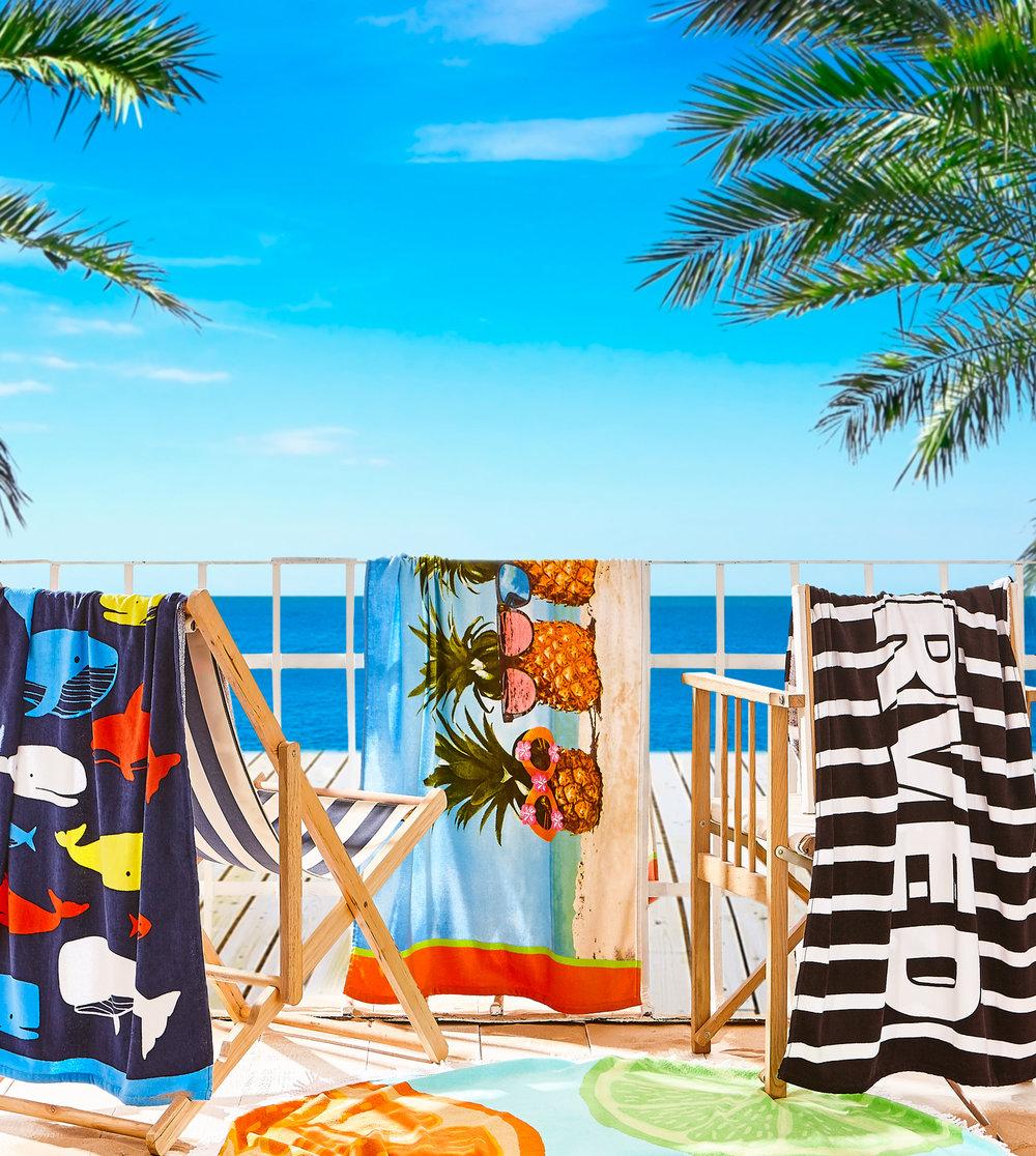 CL BEACH TOWELS
