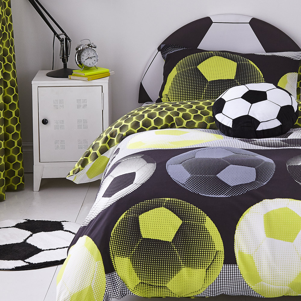 IT'S A GOAL SHAPED CUSHION & RUG