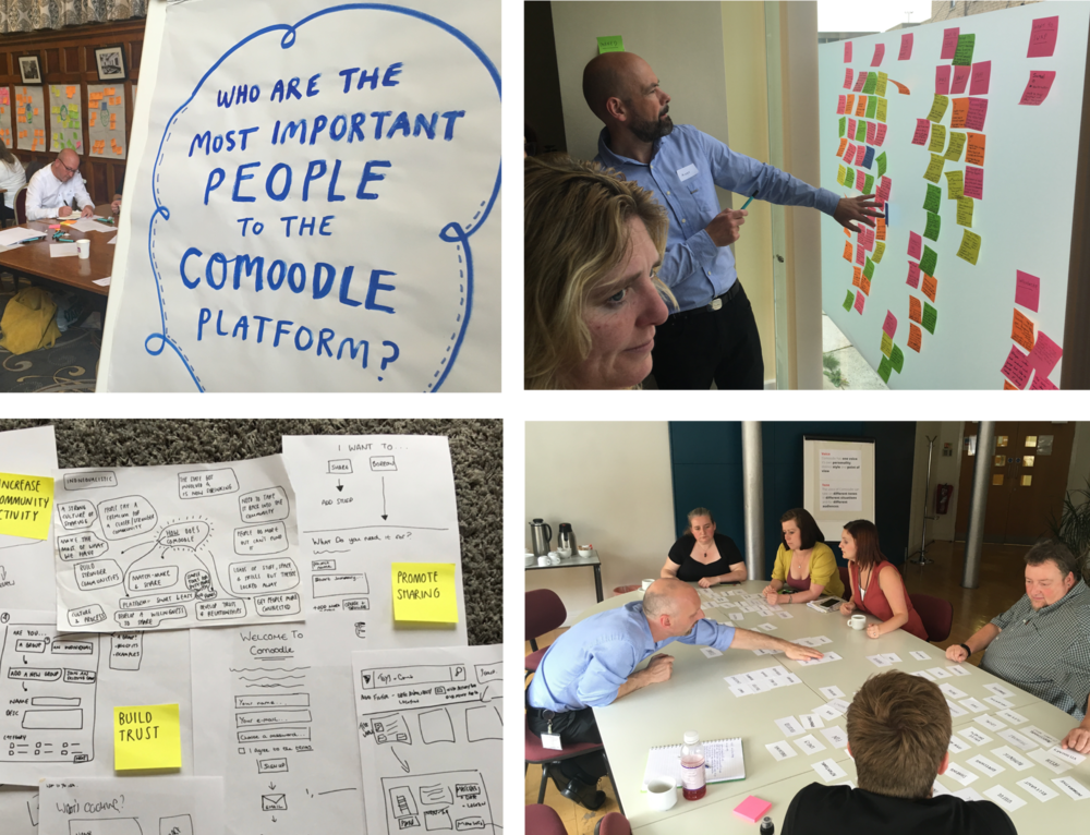 Persona research, tone of voice, service design and ideation workshops.