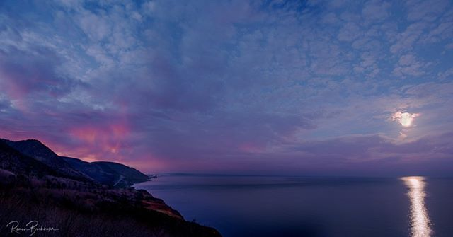 Moments and views like this are part of the reason why Cape Breton is what it is. Supermoon light with a bit of fire in the sky. This is a fragment in time I will never forget . . . . . . . #explorecb #visitnovascotia @visitcapebretonisland
