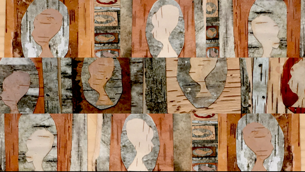 birch bark women by michael and sara chaney