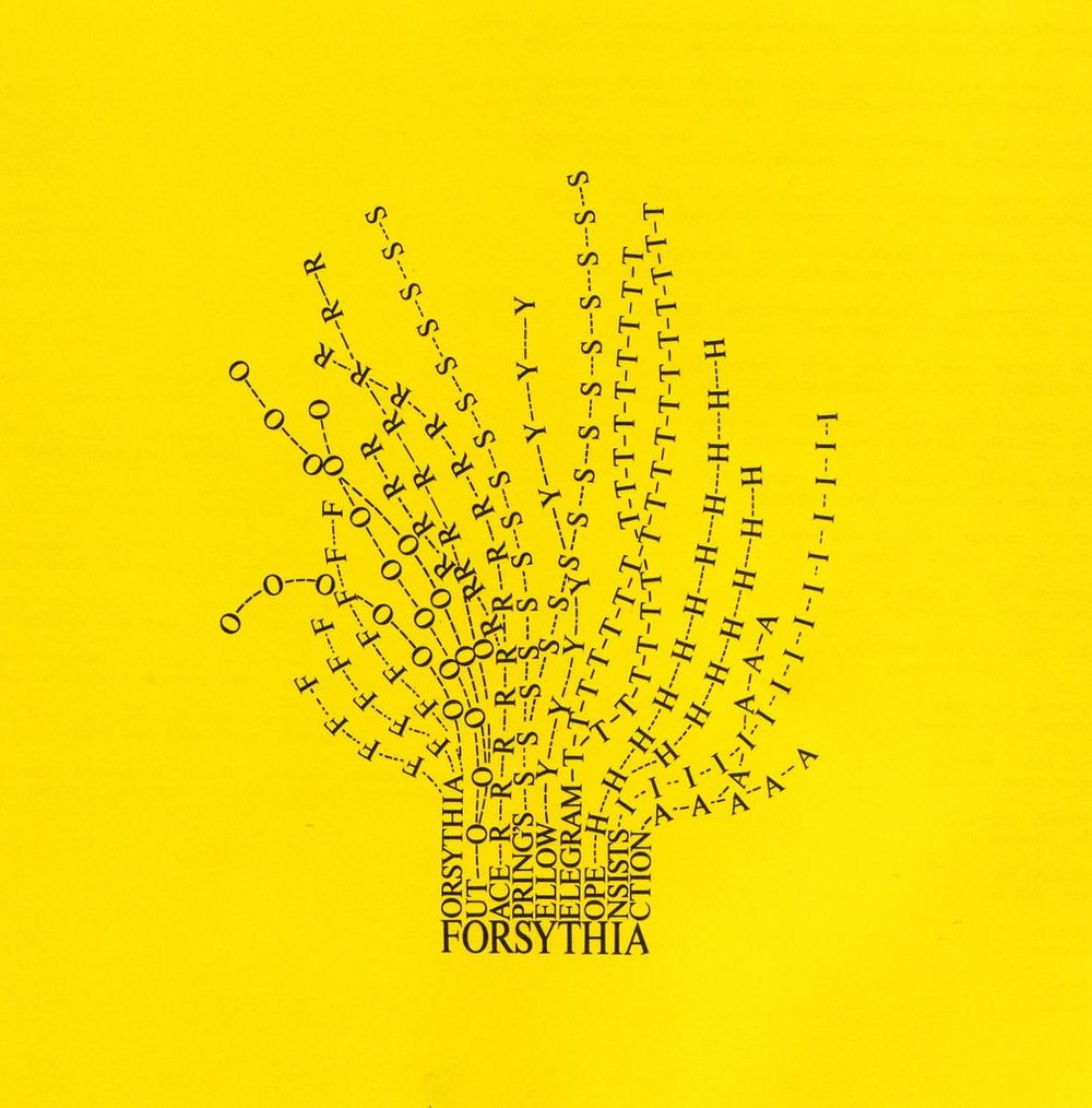 """""""Forsythia"""" (1966) Mary Ellen Solt"""