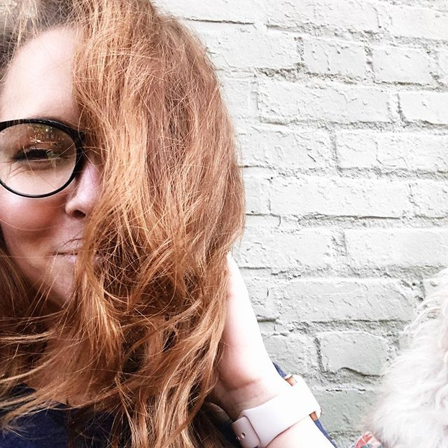 Made it through Monday like... . . . . . #october🍁 #happy #dclife #redhair #longhair