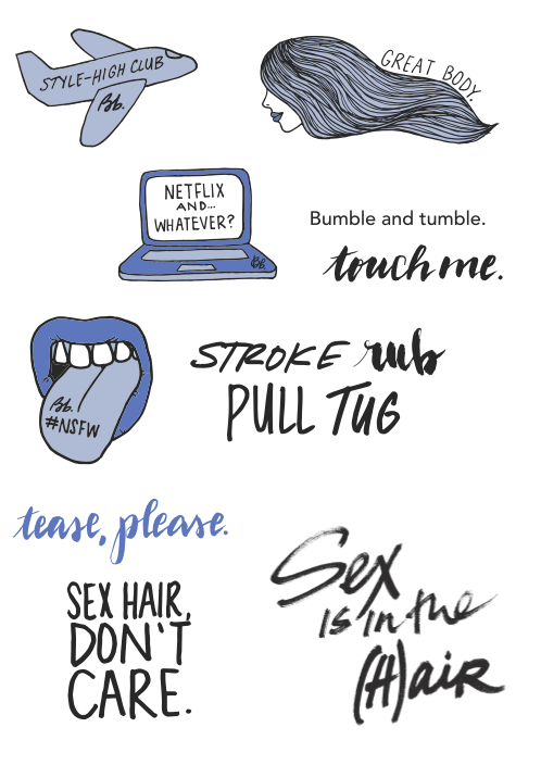 Bumble and bumble Thickening sticker set