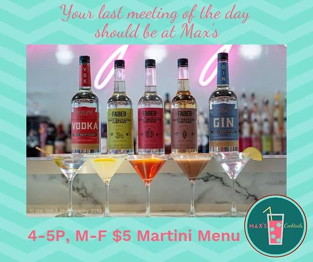 We aren't Mad Men, we are actually happy ladies and gentlemen- join us for the $5 Martini Meeting from 4-5P, M-F!