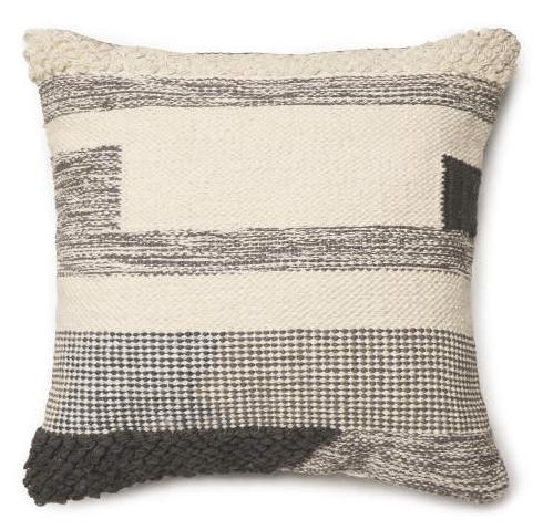 Gray Odessa Throw Pillow (17X17) -