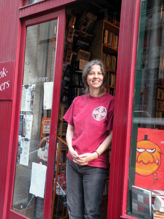 Penelope Fletcher at the old bookshop location in the Marais. Photograph by Richard Nahem. -