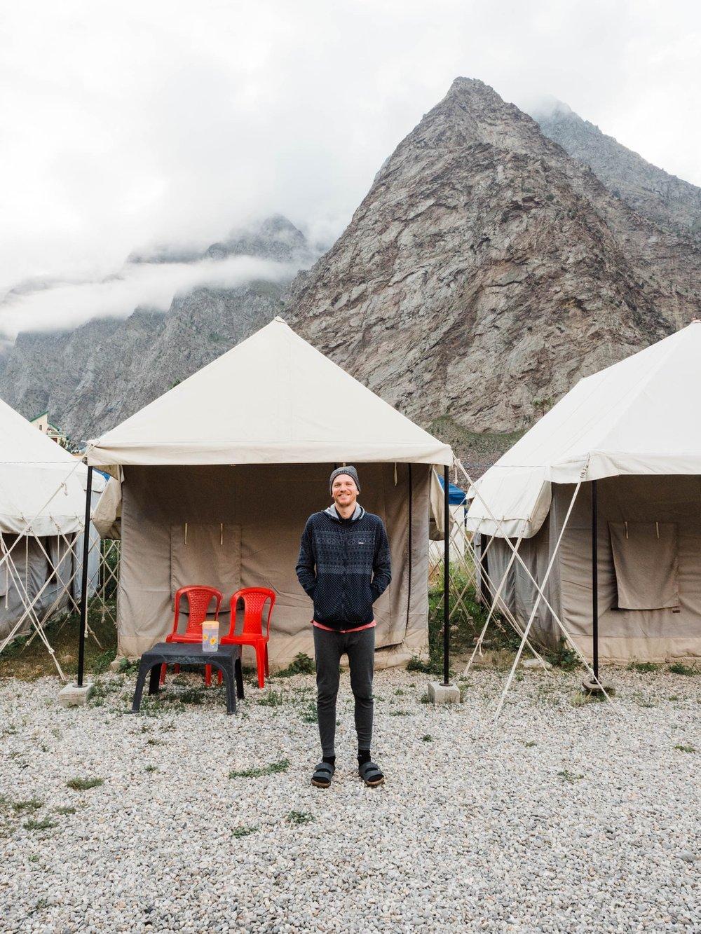 Camping in Jispa, Nordindien
