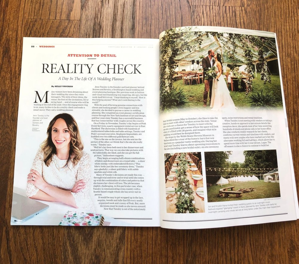 The first part of my spread in Hartford Magazine