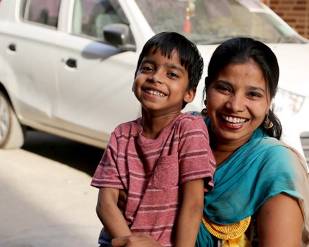 Suvarna and her son Prasoon. (Courtesy of Suvarna Raj)