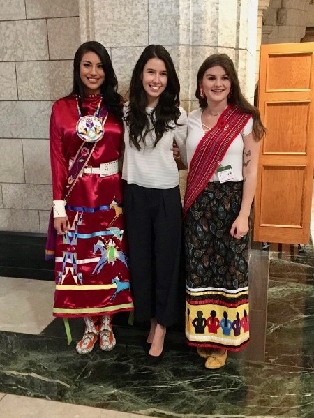Tracie with her fellow 2018 Youth Indspire Award recipients. (Courtesy of Indspire)