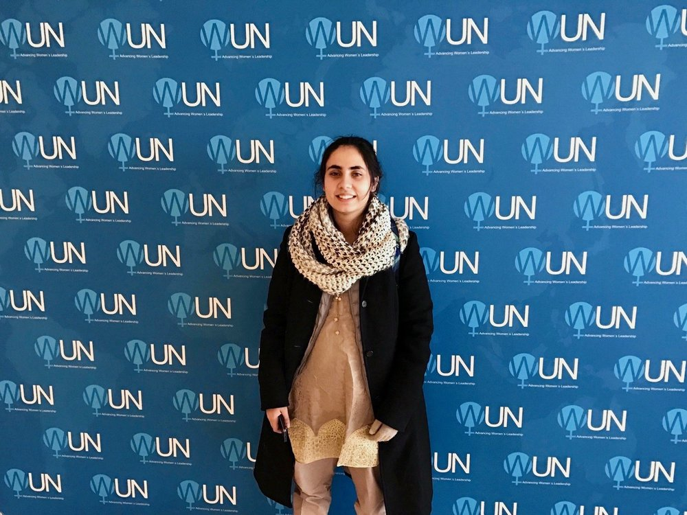 Last year, Noorena joined Malala Fund at the United Nations to advocate for girls' education. (Courtesy of Tess Thomas / Malala Fund)