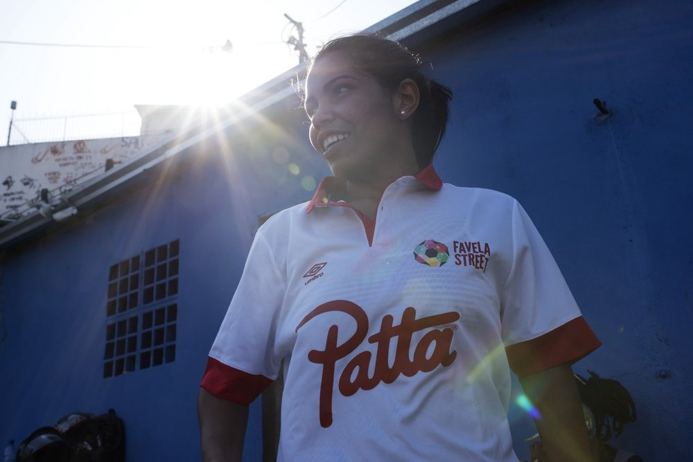 Dryka is the captain of her Favela Street Football Team. She encourages children in favelas to play sports and continue their education. (Courtesy of Favela Street Foundation)