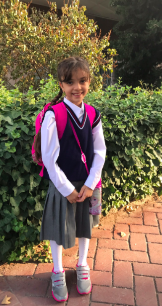Bana on her first day of school in Turkey (Courtesy of  Bana Alabed  Twitter).