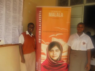 Hidel (right) at a Malala event.