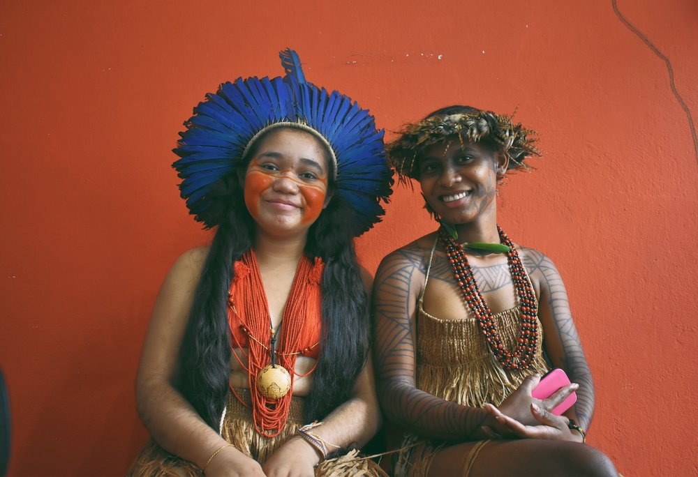 Maikele and Itocovoti are 17-year-old ingenious students from Bahia. (Courtesy of McKinley Tretler / Malala Fund)