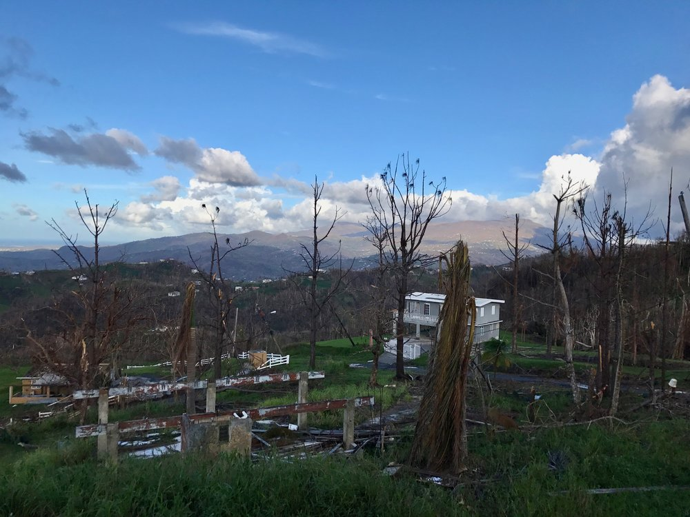 Camila photographs her community after Hurricane Maria. (Courtesy of Camila Cruz)