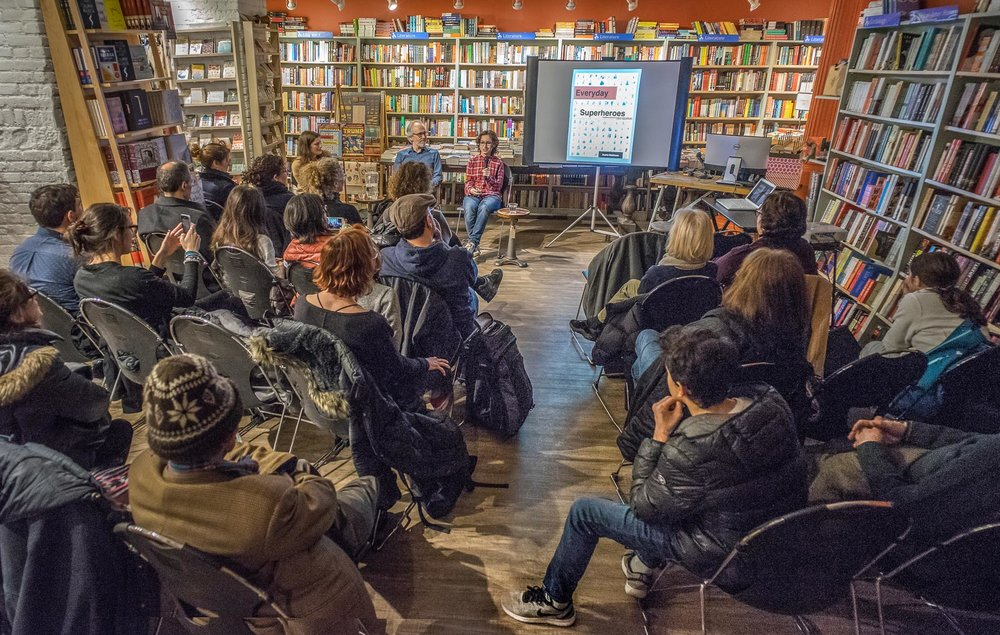 "Sasha at the ""Everyday Superheroes"" book launch. (Courtesy of Sasha Matthews)"