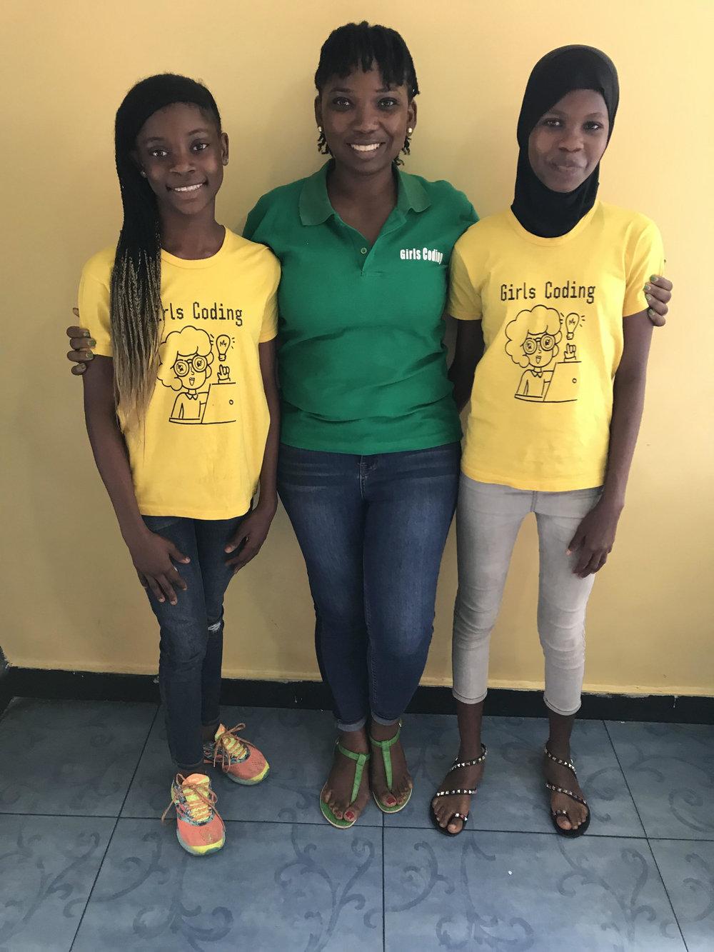 Abisoye with Mariam and Nosirat. (Courtesy of Abisoye Ajayi-Akinfolarin)