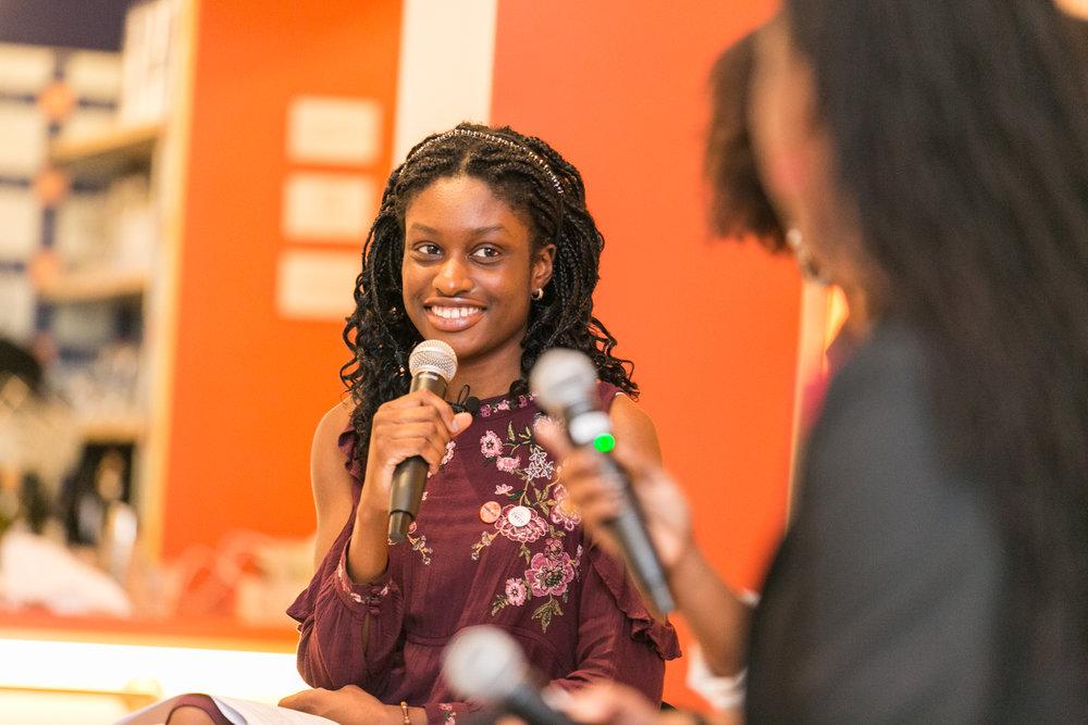 Student moderator Omolara