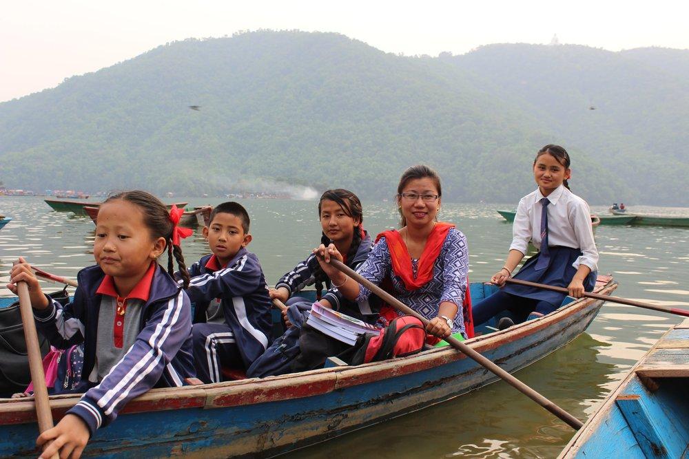 Aashma and her friends on a boat. (Courtesy: Nirmal Adhikari)