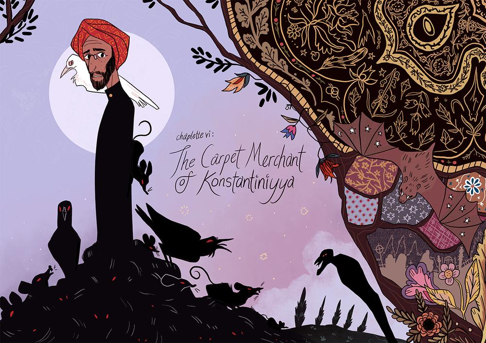 "Cover of Reimena's comic novel, ""The Carpet Merchant of Konstantiniyya."" (Courtesy of Reimena Yee)"