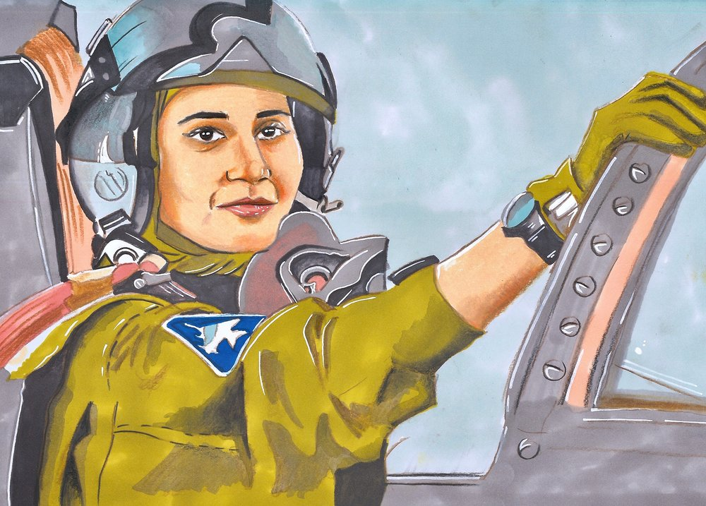 Ayesha Farooq: First fighter pilot of Pakistan. (Courtesy of Maliha Abidi)