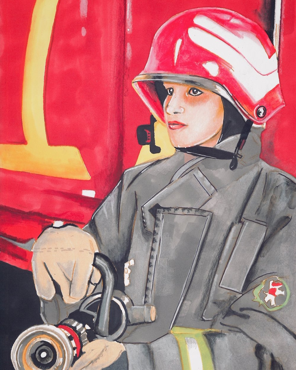 Shazia Parveen: First female firefighter of Pakistan. (Courtesy of Maliha Abidi)
