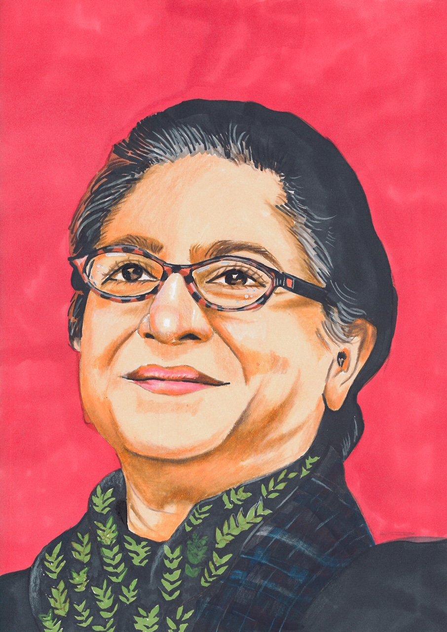 Asma Jahangir: a symbol of feminism and the winner of UN Human Rights Prize. (Courtesy of Maliha Abidi)