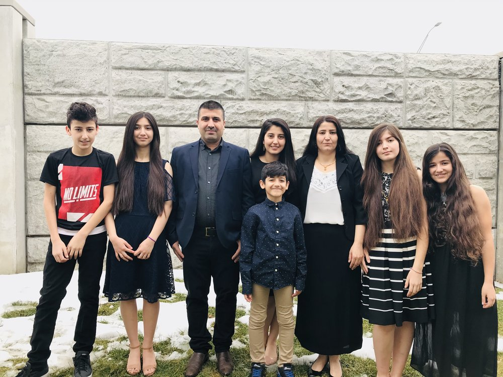 Nibras and her family. (Courtesy of Nibras Khudaida)