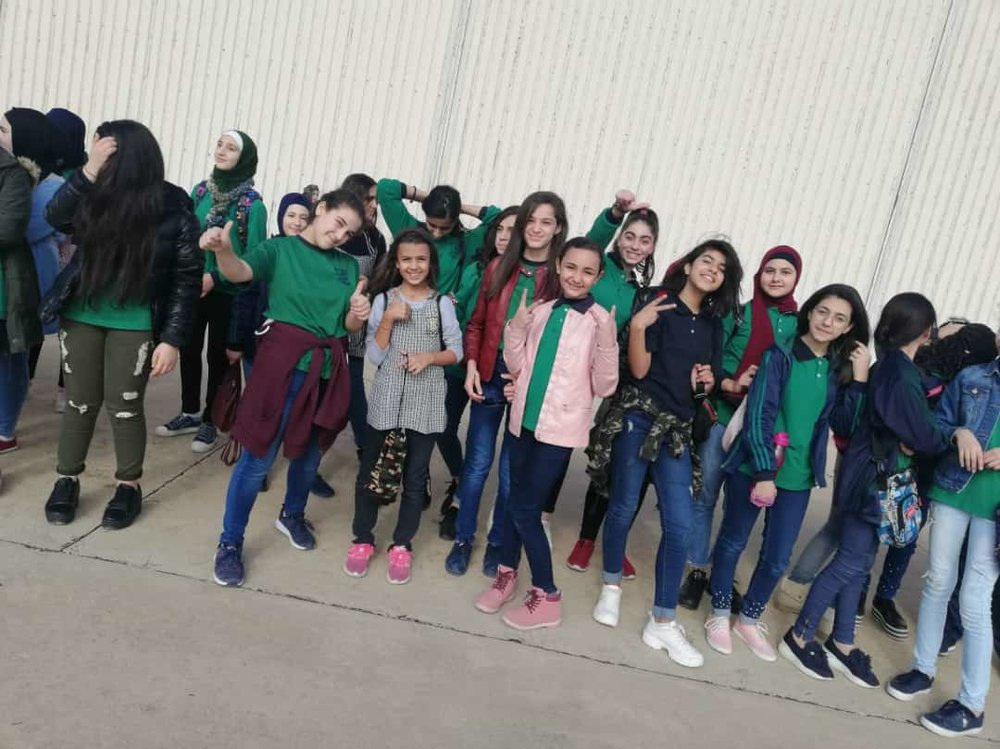 With my classmates at school. (Courtesy of Reem)