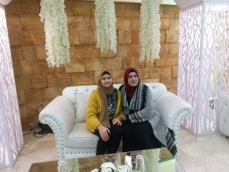 With my mother at my cousin's engagement