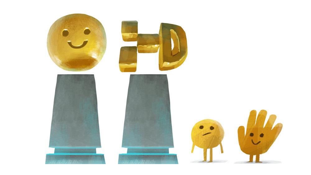 Emoji statue design