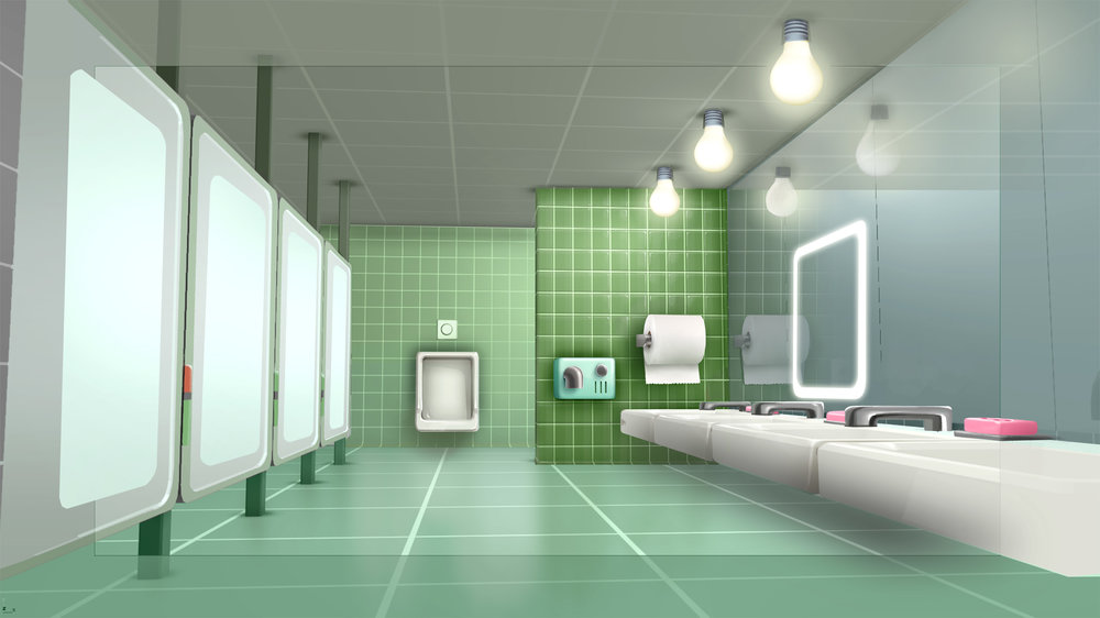 Emoji office bathroom design / paint