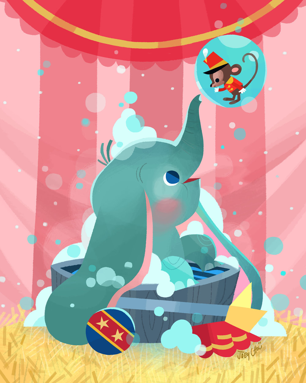 Dumbo's Bath Time