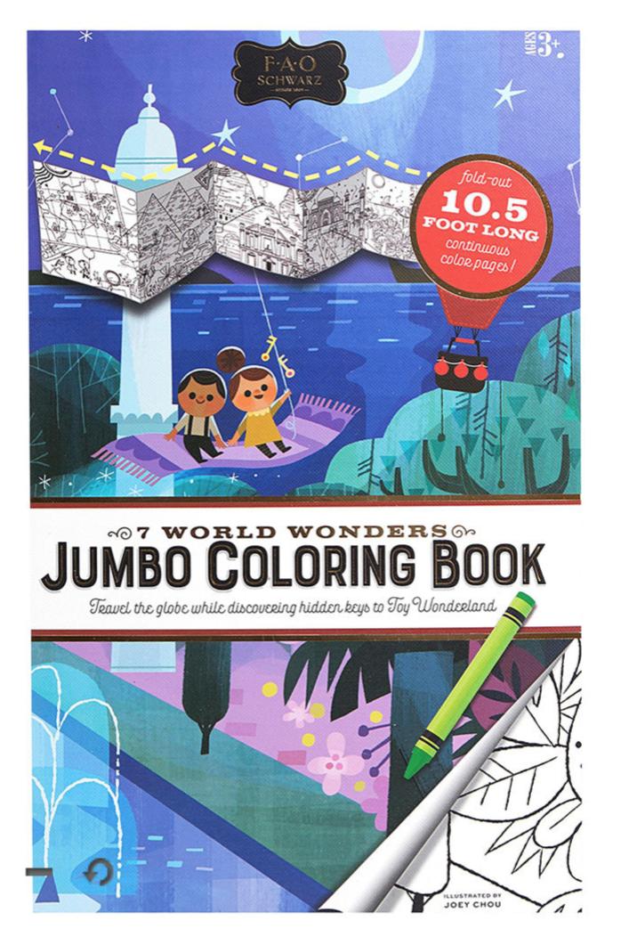 FAO Schwarz Extra Long Coloring Book