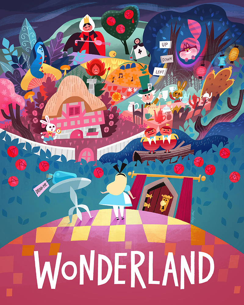 Alice in Wonderland- Disney Travel Poster Exhibition