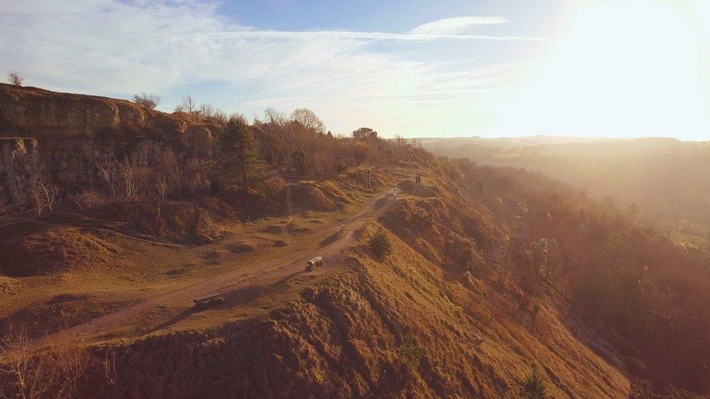Leckhampton Hill by drone -
