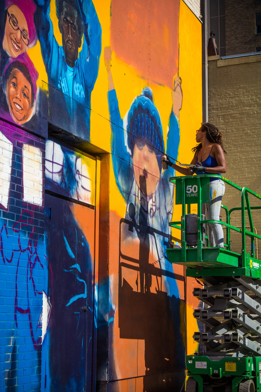 #DareToDissent - Commissioned by the ACLU of North Carolina via the Raleigh Murals Project. This was my first permanent exterior mural!