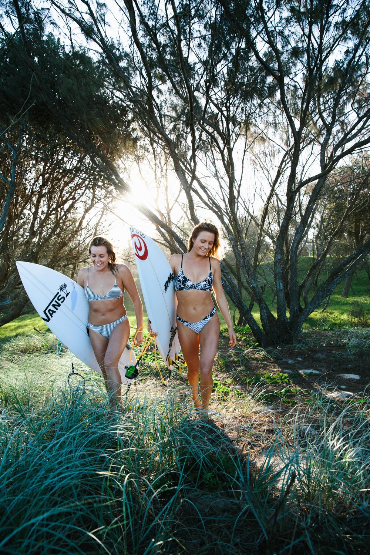 Alana Blanchard and Leila Hurst, Australia