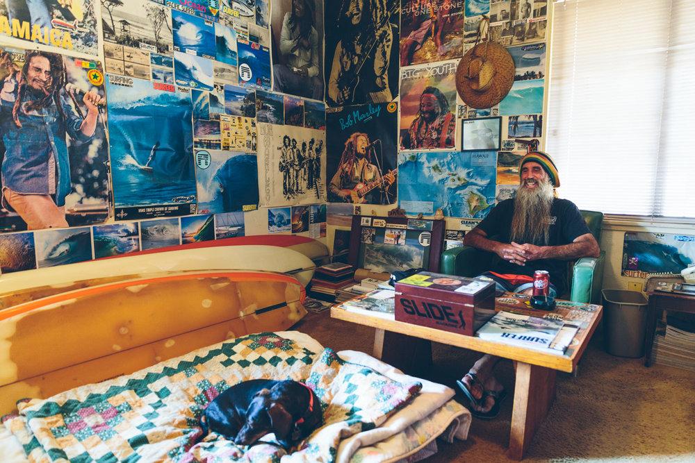 John Haffey at home