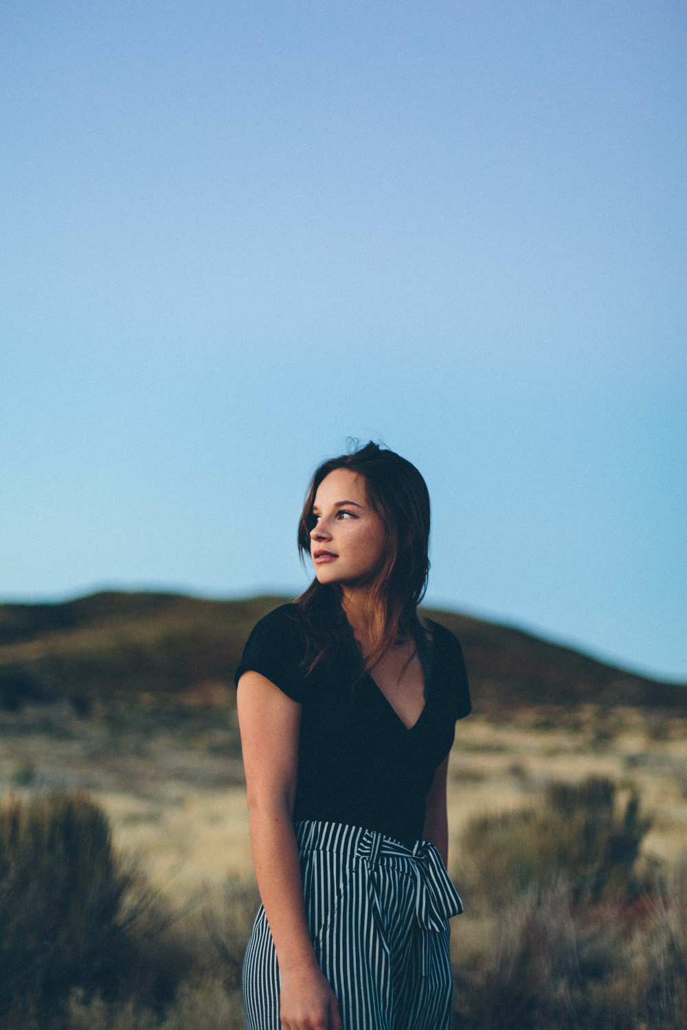 Serena, Laguna Mountains Sunset, Fashion Shoot