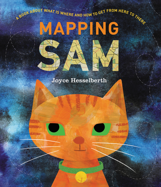 """First readers explore a neighborhood map of the feline's initial travels before embarking on a journey that will take them to the edge of the universe and back...An eye-catching introduction to maps, charts, and diagrams for the youngest of cartographers.""— Sc hool Library Journal   (starred review)"