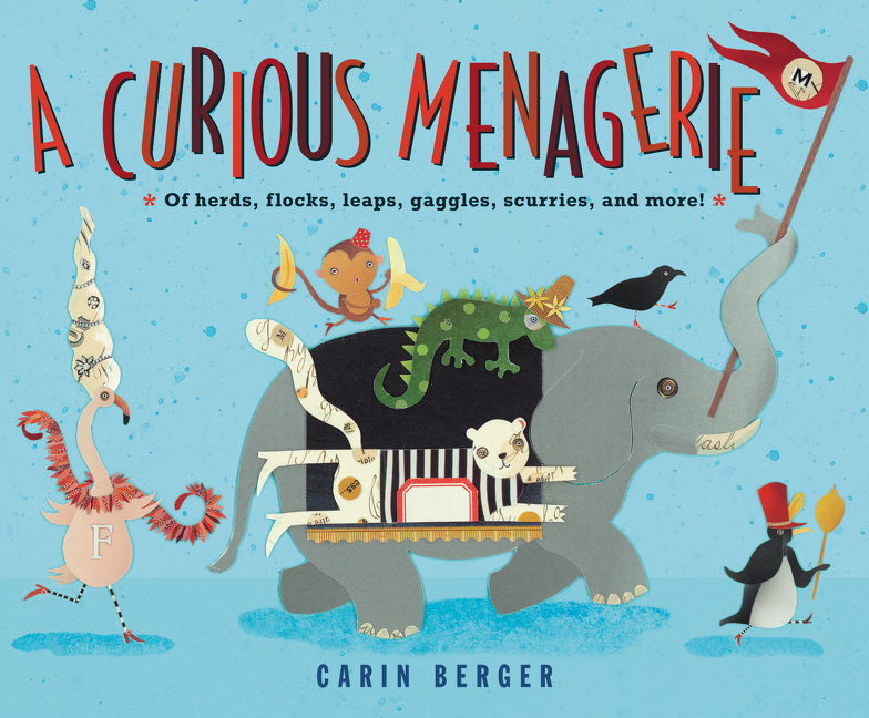 """Collective nouns are the singular focus of this straightforward picture book. . . .Lovely collage illustrations, featuring playful use of shapes and patterns in sophisticated color palettes.""— Kirkus"