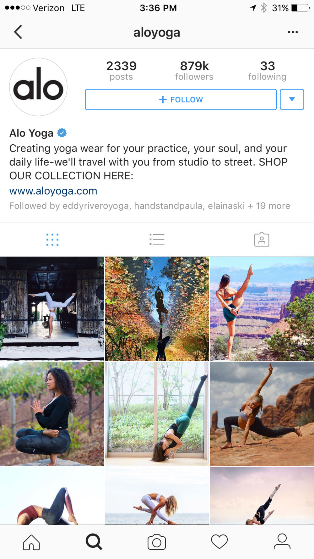 I came home to the sweetest surprise! A feature on Alo Yoga's Instagram page :)! If you don't follow them already make sure you do @aloyoga, they post endless yogi inspo.