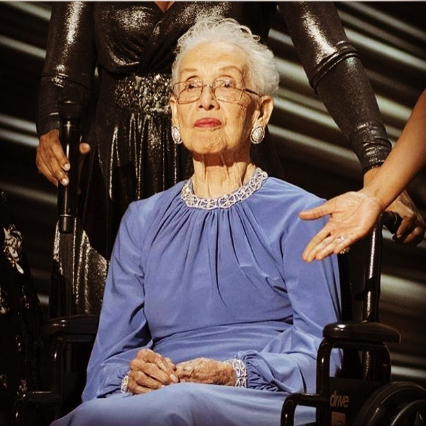 Happy 100th birthday Katherine Johnson! Without you and your incredible mathematic calculations, Buzz and Neil would never have made it 💜🎉