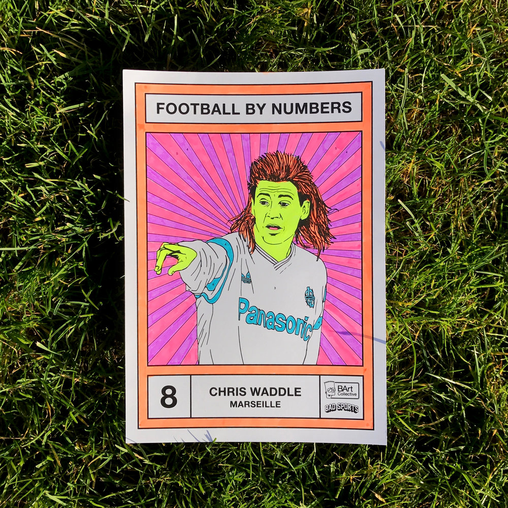 Chris Waddle golden ticket card for Football By Numbers
