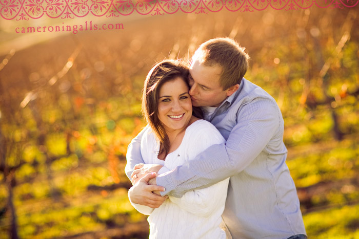 San Luis Obispo Vineyard and Creek engagement photographs of Alita Boyle + Scott Eaton taken by Cameron Ingalls