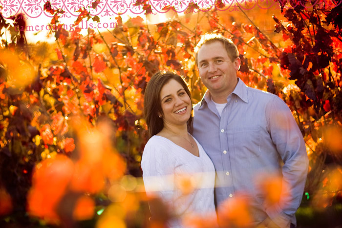 San Luis Obispo Vineyard and Creek engagement photographs of Alita Boyle + Scott Eaton taken by Cameron Ingalls