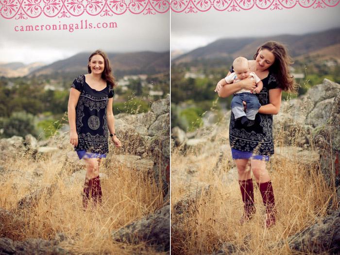 San Luis Obispo, baby and family photographs of Jessie, Darren, and Rueben taken by Cameron Ingalls